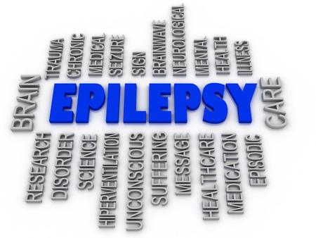 epilepsy: 3d imagen, Epilepsy symbol. Neurological disorder icon conceptual design