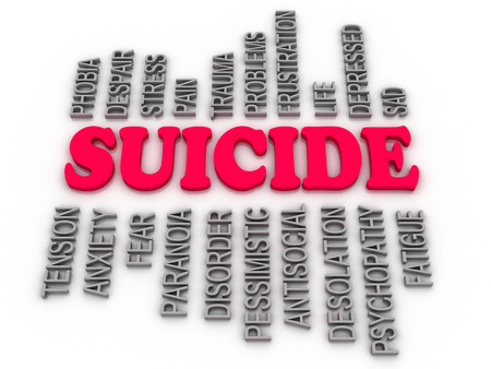 psychopathy: 3d  imagen Suicide concept