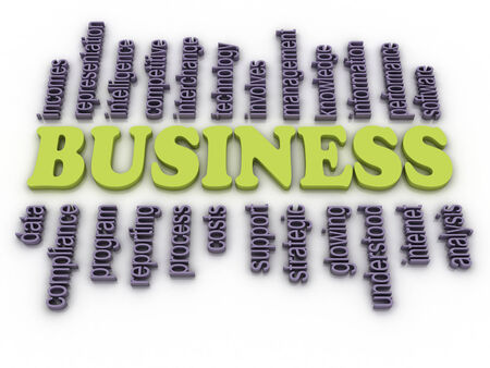understood: 3d image Business concept word cloud background Stock Photo