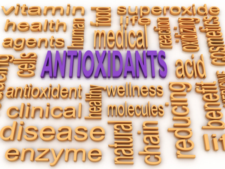 oxidizing: 3d image Antioxidants concept word cloud background Stock Photo