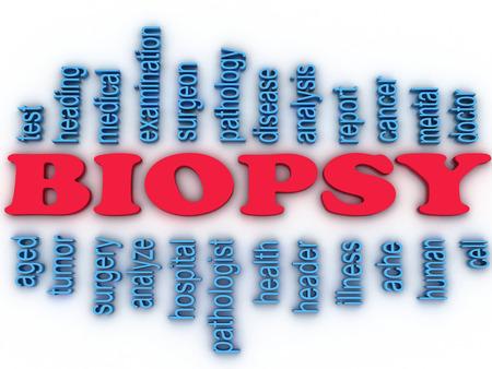 pathologic: 3d imagen Biopsy concept word cloud background