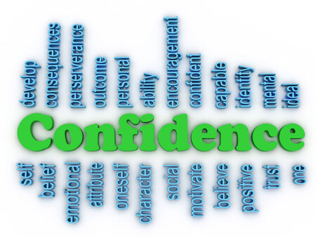 3d image Confidence in Personal Belief concept word cloud background photo