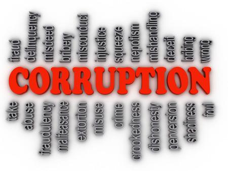 payola: 3d imagen Corruption concept word cloud background