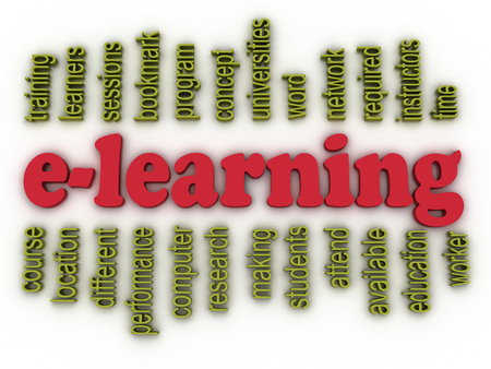 instances: 3d image e-learning concept word cloud background