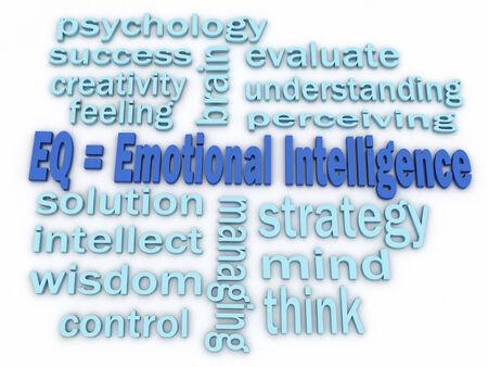 inteligencia emocional: 3d imagen Emocional concepto palabra Inteligencia nube fondo Foto de archivo