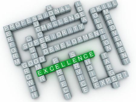 transcend: 3d imagen Excellence concept word cloud background Stock Photo