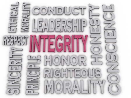 role model: 3d imagen Integrity concept word cloud background Stock Photo