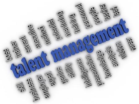 savant: 3d imagen Talent Management  concept word cloud background