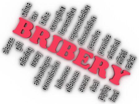 instance: 3d imagen Bribery concept word cloud background