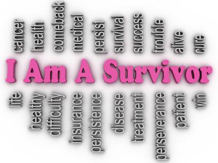 3d imagen I Am A Survivor  concept word cloud background photo
