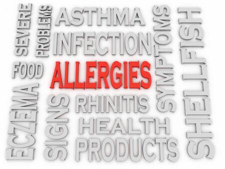3d imagen Allergies concept word cloud background photo