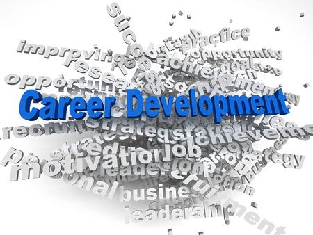 leadership development: 3d imagen Career development  concept word cloud background
