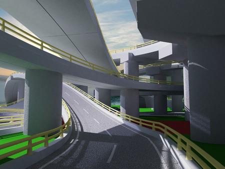 underpass: 3D highway interchange