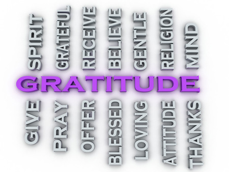 indebted: 3d image Gratitude issues concept word cloud background