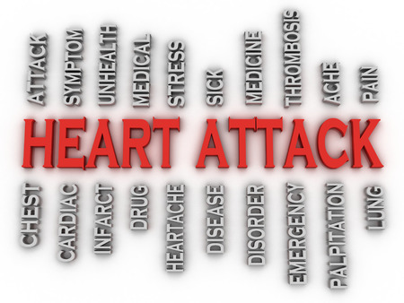 tightness: 3d imagen heart attack   issues concept word cloud background