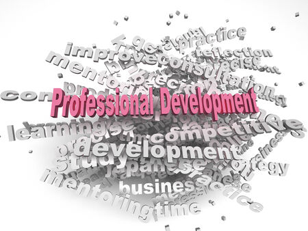 business development: 3d image professional development  issues concept word cloud background