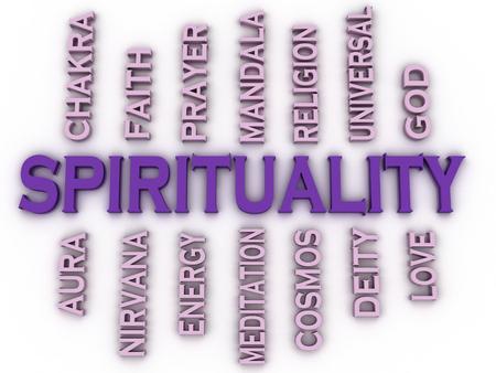 universal love: Espiritualidad imagen 3d emite palabra nube concepto de fondo Foto de archivo