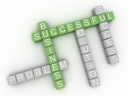 3d image concept of successful business. photo