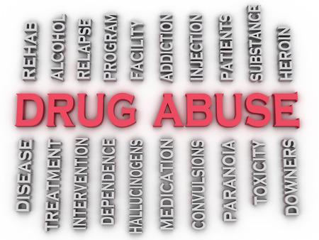 remission: 3d Abuso immagine Drug emette concetto di word cloud sfondo