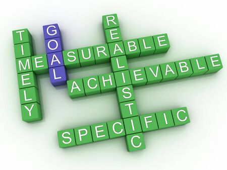 goal setting: 3d image Goal issues concept word cloud background