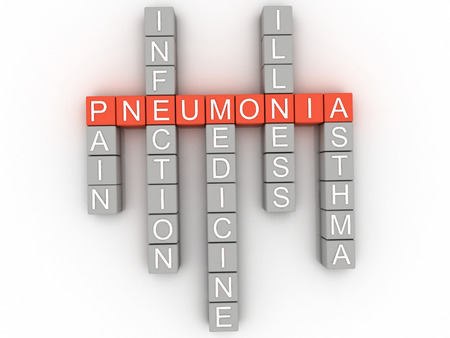 pneumonia: 3d image Pneumonia issues concept word cloud background Stock Photo