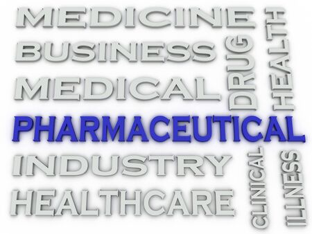 pharmaceutical industry: 3d image Pharmaceutical industry  issues concept word cloud background