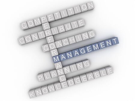 knowledgeable: 3d image Management  issues concept word cloud background