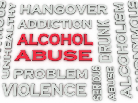 alcohol abuse: 3d image Alcohol abuse  issues concept word cloud background