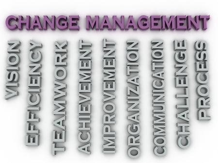 3d image change management   issues concept word cloud background photo