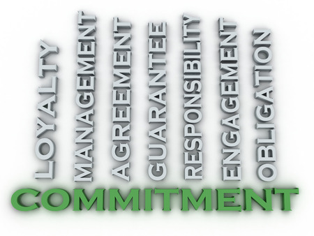 consign: 3d image Commitment  issues concept word cloud background Stock Photo