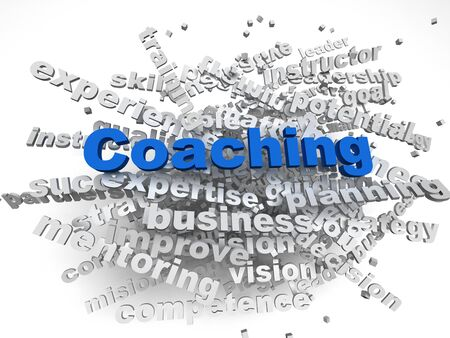 creative potential: 3d image Coaching  issues concept word cloud background