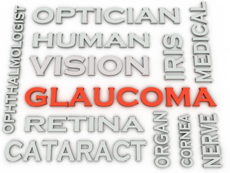 glaucoma: 3d image Glaucoma  issues concept word cloud background