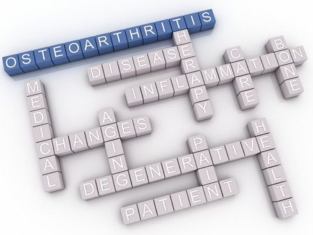 degenerative: 3d image Osteoarthritis  issues concept word cloud background