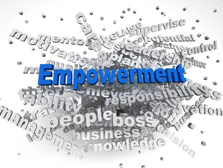 endow: 3d image Empowerment   issues concept word cloud background Stock Photo