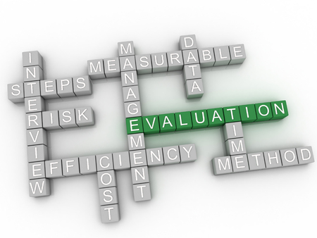 formative: 3d image Evaluation   issues concept word cloud background Stock Photo