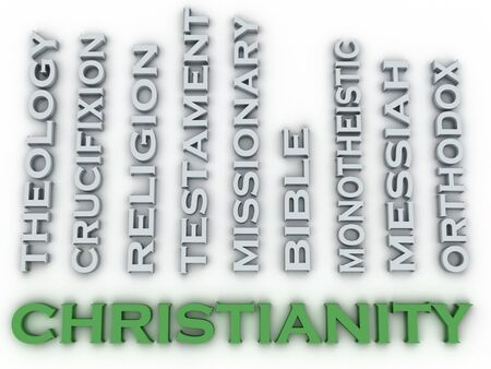 coordinated: 3d image Christianity  issues concept word cloud background