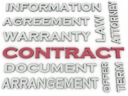 clause: 3d image Contract  issues concept word cloud background Stock Photo
