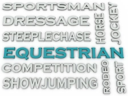 steeplechase: 3d image Equestrian  issues concept word cloud background Stock Photo