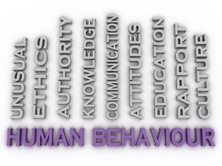 norm: 3d image Human behaviour   issues concept word cloud background
