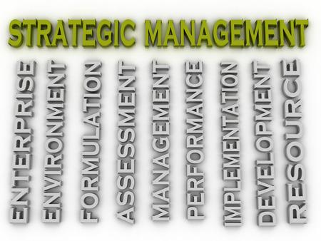 formulation: 3d image Strategic management issues concept word cloud background