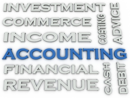 3d image Accounting issues concept word cloud background Banco de Imagens