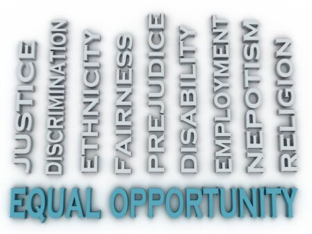 sex discrimination: 3d image Equal opportunity issues concept word cloud background