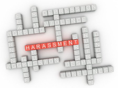 adult sexual: 3d image Harassment issues concept word cloud background