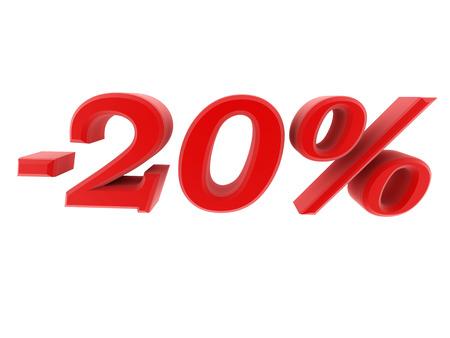 hint: 3d image 20 percent off digits