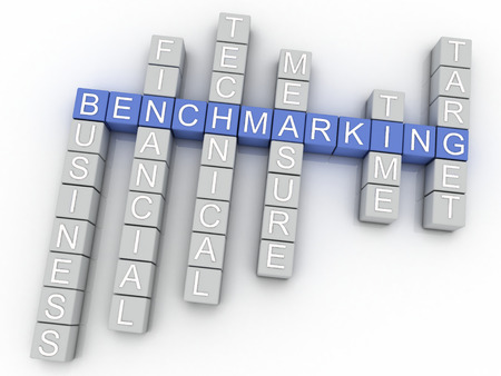 benchmarking: 3d image Benchmarking issues concept word cloud background