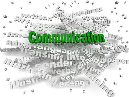 verbal: 3d image Communication word cloud concept Stock Photo