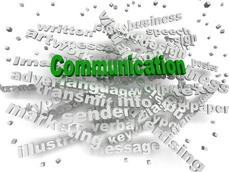 verbal communication: 3d image Communication word cloud concept Stock Photo
