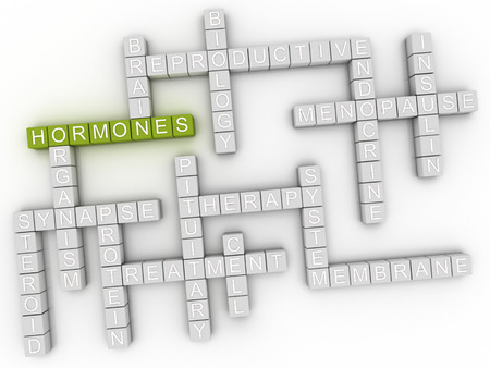 triggers: 3d image Hormones issues concept word cloud background Stock Photo