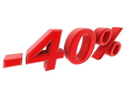 inheritance: 3d image 40 percent off digits