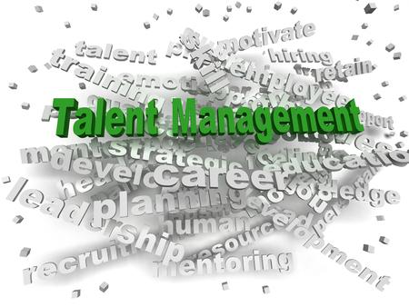 talent management: 3d image Talent management word cloud concept